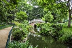 Parc Monceau (1778) is a public park located in the 8th arrondissement of Paris, France. Park Monceau contains wonderful surprises: statues, Renaissance arch, bridges, pond and rich vegetation.