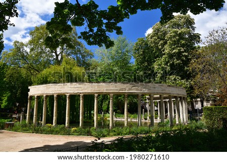Parc Monceau on a sunny day in Paris, May 7, 2021 Photo stock ©