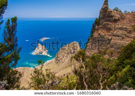 Parc rural de Anaga on the ile of Tenerife to Roque de Fuera Foto stock ©