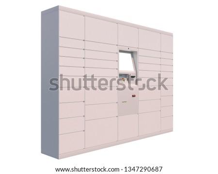 parcel automat 3d illustration