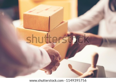 parcel delivery with good depth of field