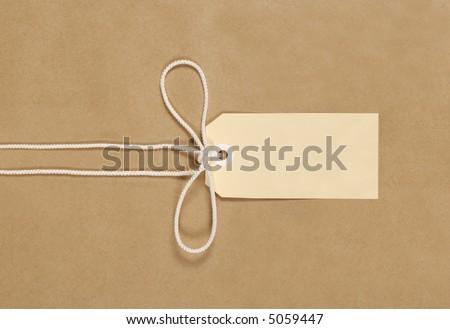 Parcel, package, brown paper background, label