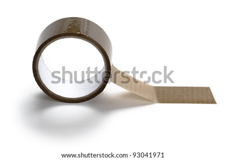 parcel tape on a white background