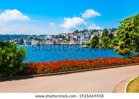 Parco Ciani is a public park in Lugano city in canton of Ticino, Switzerland Zdjęcia stock ©