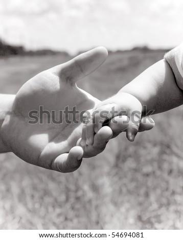 Parent holding little hand