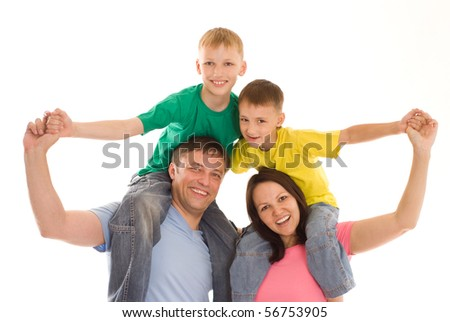 parents with  two children together