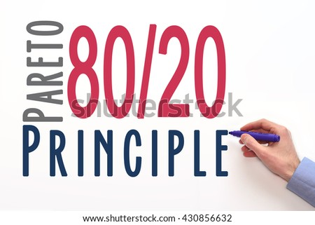 Pareto Principle or law of the vital few. 80/20 rule. factor sparsity  #430856632