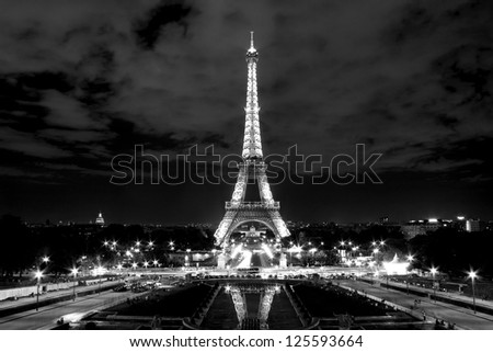 PARIS - APRIL 21: Light Performance Show on April 21, 2012 in Paris. The Eiffel tower stands 324 metres (1,063 ft) tall. Monument was built in 1889, attendance is over 7 millions people.