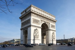 Paris, Arc de Triumph in spring time