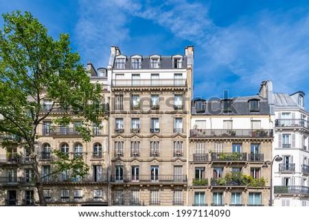 Paris, beautiful buildings, boulevard Beaumarchais in the 11e district Foto stock ©