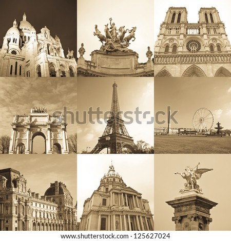 paris collage of the most...