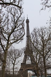 Paris Effiel Tower. metal abstract