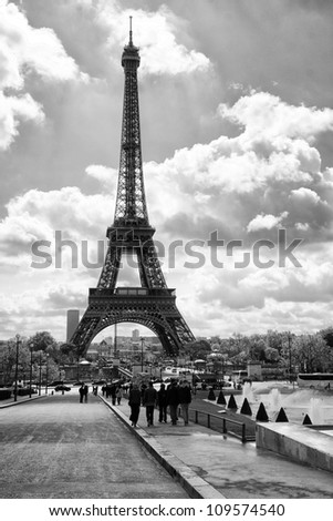 Paris Eiffel Tower Pictures  Information on And White Eiffel Tower Paris Eiffel Tower Find Similar Images