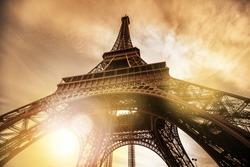 Paris Eiffel Tower During Sunset