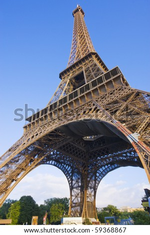 Paris - Eiffel Tower on a blue sky