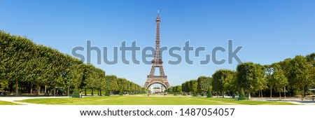 Paris Eiffel tower panorama France panoramic view travel traveling