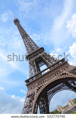 France Eiffel Tower Picture on Stock Photo   Paris  France   Eiffel Tower Seen From Champ De Mars
