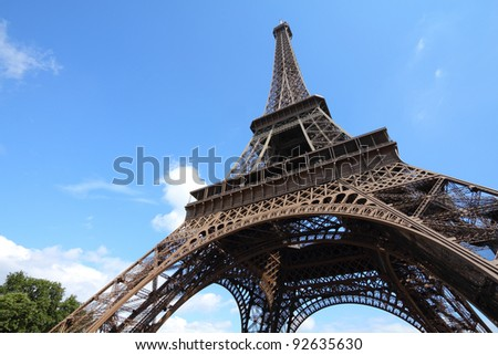 France Eiffel Tower Picture on Stock Photo   Paris  France   Eiffel Tower  Unesco World Heritage Site