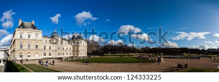 PARIS, FRANCE: JAN 1:  Luxembourg garden on January 1, 2013 in Paris -  Luxembourg garden is one of the famous places for tourists and a recreation area for Parisians.