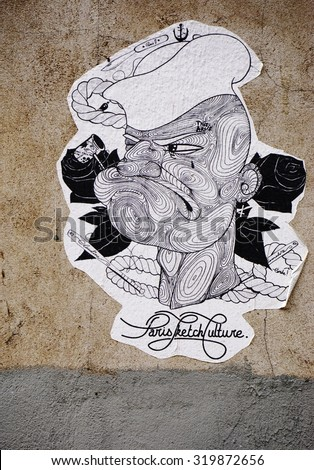 PARIS, FRANCE -16 JUNE 2015- Graffiti street art in the French capital. Paris has become one of the European centers for street art.