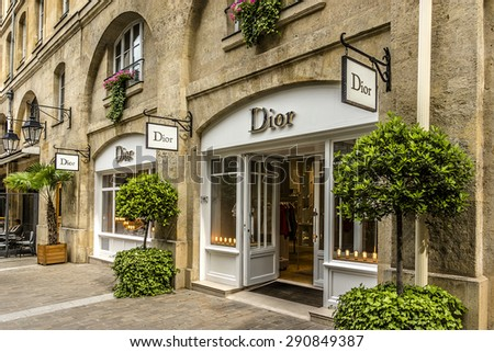 PARIS FRANCE JUNE 1 2015 View of Royal Village Royal Village located near Madeleine in 8th district This passage renovation 1992 is very charming and filled with luxury shops