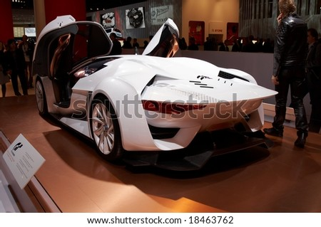 PARIS, FRANCE - OCTOBER 02: Paris Motor Show 2008, Citroen GT Concept, rear view