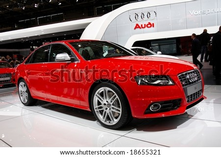 PARIS, FRANCE - OCTOBER 02: Paris Motor Show on October 02, 2008, showing Audi S4, front view