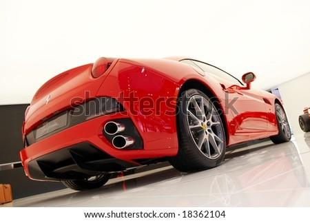PARIS, FRANCE - OCTOBER 02: Paris Motor Show on October 02, 2008, showing Ferrari California, rear view