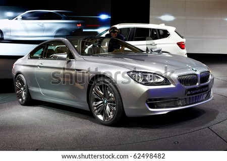 PARIS, FRANCE - SEPTEMBER 30:BMW Concept 6-series Coupe at Paris Motor Show on September 30, 2010 in Paris