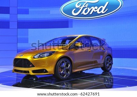 PARIS, FRANCE - SEPTEMBER 30: Ford Focus ST at Paris Motor Show on September 30, 2010, at the Paris Expo-Porte de Versailles