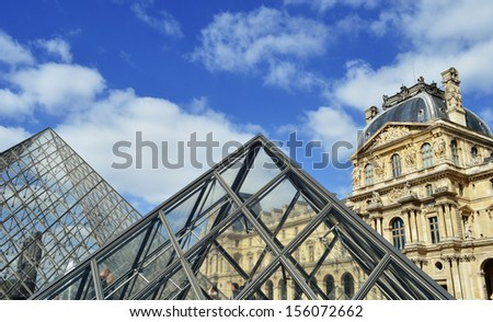 PARIS, FRANCE � SEPTEMBER 23: Louvre Museum in Paris, France on September 23, 2013, major touristic attraction in Paris and the world's most visited museum, with more than 8 million visitors each year