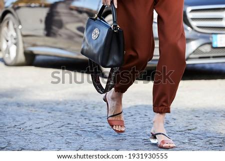 Paris-France-September 29, 2018.Street style,Spring Summer 2018,Ready to wear,Paris fashion week