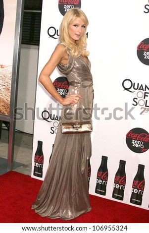 Paris Hilton  at a Special Screening of 'Quantum of Solace'. Sony Pictures, Culver City, CA. 11-13-08