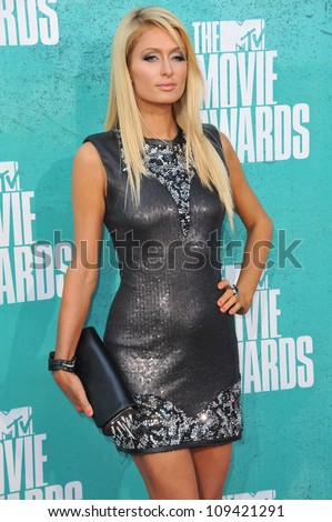 Paris Hilton at the 2012 MTV Movie Awards at Universal Studios, Hollywood. June 4, 2012  Los Angeles, CA Picture: Paul Smith / Featureflash