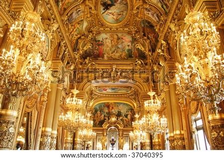 Paris: Interior of Opera Garnier