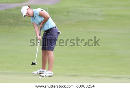 PARIS INTERNATIONAL GOLF CLUB, FRANCE - SEPTEMBER 10 : Caroline Afonso (FRA) at Ladies European Golf Tour, The French Open, september 10, 2010, at  Paris international golf club, France.