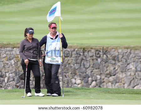 PARIS INTERNATIONAL GOLF CLUB, FRANCE - SEPTEMBER 10 : Julie Maisongrosse (FRA) at Ladies European Golf Tour, The French Open, Paris, september 10, 2010, at  Paris international golf club, France.