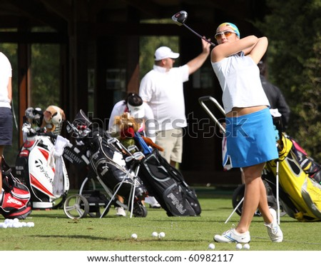 PARIS INTERNATIONAL GOLF CLUB, FRANCE - SEPTEMBER 10 : Kim Welch (USA) at Ladies European Golf Tour, The French Open, Paris, september 10, 2010, at  Paris international golf club, France.