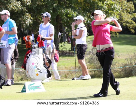 PARIS INTERNATIONAL GOLF CLUB, FRANCE - SEPTEMBER 11 :  Melissa Reid (ENG) at Ladies European Golf Tour, The French Open, september 11, 2010, at  Paris international golf club, France.