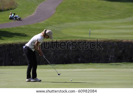 PARIS INTERNATIONAL GOLF CLUB, FRANCE - SEPTEMBER 10 : Sophie Sandolo (ITA) at Ladies European Golf Tour, The French Open, Paris, september 10, 2010, at  Paris international golf club, France.