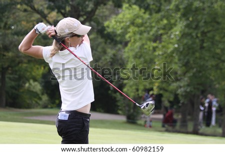 PARIS INTERNATIONAL GOLF CLUB, FRANCE - SEPTEMBER 09 : Sophie Sandolo (ITA) at Ladies European Golf Tour, The French Open, Paris, september 09, 2010, at  Paris international golf club, France.