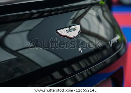 "PARIS - JANUARY 31 :Exposition ""Concept cars"". Aston Martin Vanquish, January 31, 2013 Paris, France."