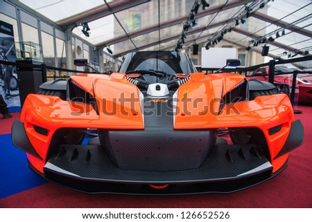 "PARIS - JANUARY 31 :Exposition ""Concept cars"". Concept KTM X BOW, January 31, 2013 Paris, France."