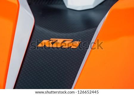 """PARIS - JANUARY 31 :Exposition """"Concept cars"""". Details of concept KTM X �BOW, January 31, 2013 Paris, France."""