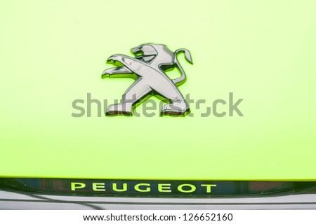 """PARIS - JANUARY 31 : Exposition """"Concept cars"""". Car Peugeot 2008 Concept, January 31, 2013 Paris, France. - stock photo"""