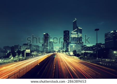 stock photo paris ladefense in sunset time france 286389653 - Каталог - 3d фотообои