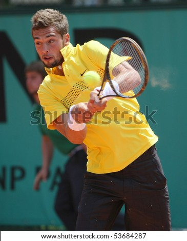 PARIS - MAY 21: Benoit PAIRE of France in action at French Open, Roland Garros qualification 3rd round match on May 21, 2010 in Paris, France.