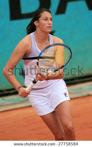 PARIS - MAY 22: Colombian professional tennis player Mariana Duque Marino during her match at French Open, Roland Garros on May 22, 2008 in Paris, France.