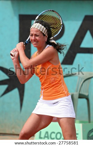 PARIS - MAY 21: Georgia\'s professional tennis player MARGALITA CHAKHNASHVILI during her match at French Open, Roland Garros on May 21, 2008 in Paris, France.