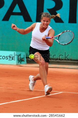 PARIS - MAY 21: Hungary's professional tennis player MELINDA CZINK during her match at French Open, Roland Garros on May 21, 2008 in Paris, France.